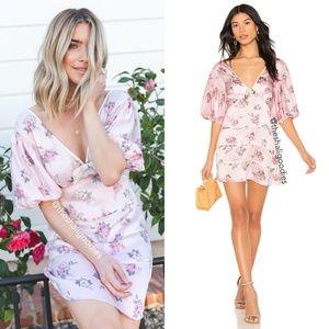 LOVESHACKFANCY Lennox Dress Pink Floral Silk